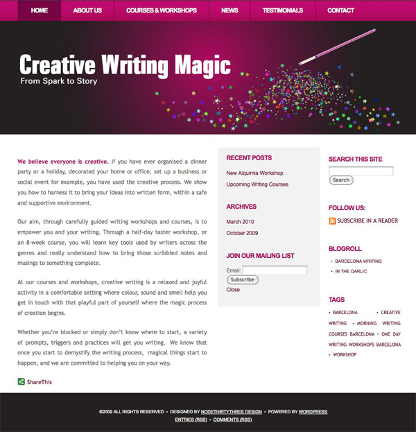 creative writing site